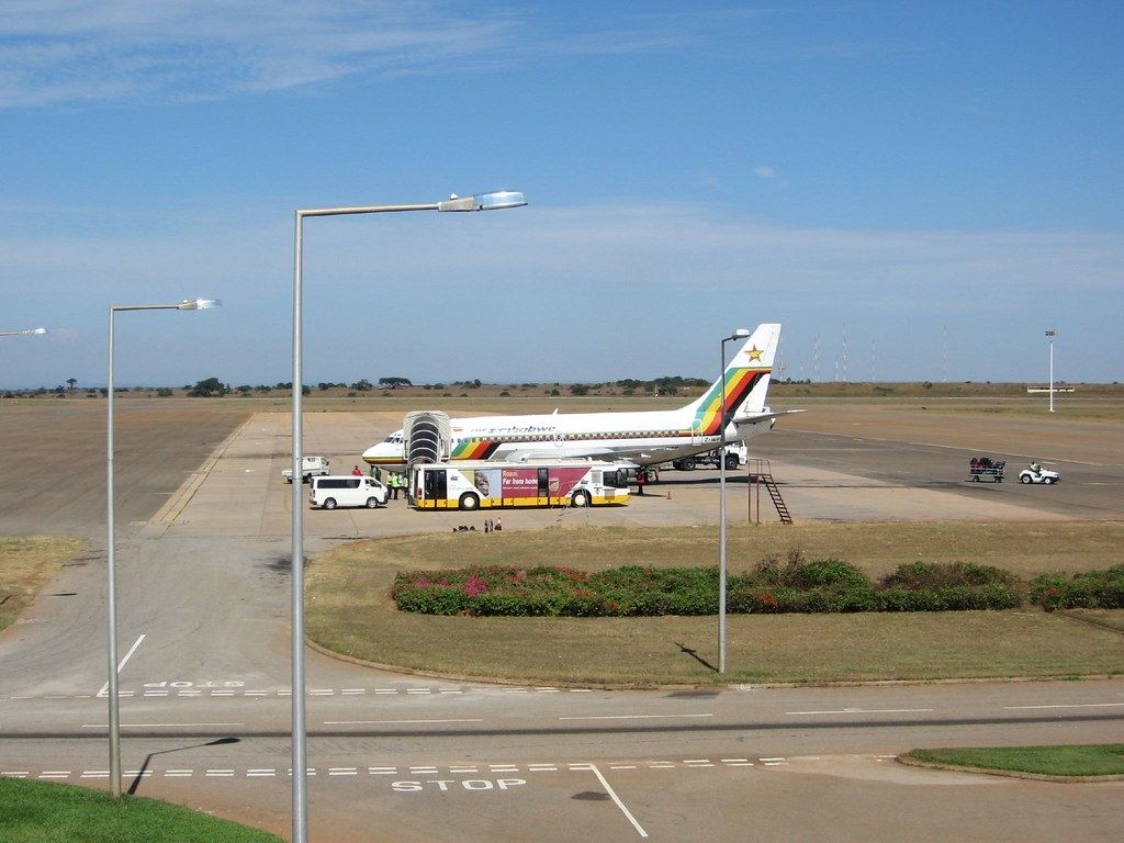 Air Zimbabwe plane at kamuzu International Airport